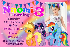 10 personalised my little pony birthday party invitations