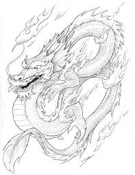 chinese dragon coloring page to print for free pixelpictart com