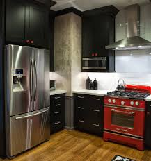 tag for red black and white kitchen decorating ideas red and