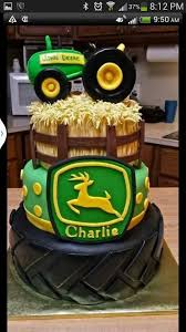 deere cake toppers deere cake for kade use hay idea with this cake on 2 layer