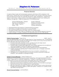 Senior Financial Analyst Resume Sample by Sample Resume Branch Operations Manager Create Professional