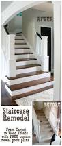 How To Build A Banister For Stairs Entry And Staircase Makeover Reveal Removing Carpet Stair Newel