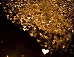 lots of tiny shaped lights from raindrops hearts