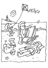 coloring page beach vacation img 6582