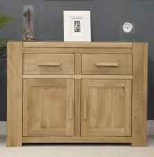 Michigan Small Chunky Sideboard Solid Oak Living Dining Room - Dining room furniture michigan