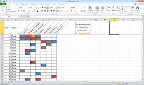 Create A Basic Raci Chart Youtube Rasci Matrix Template