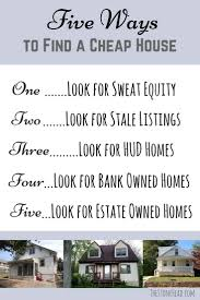 5 ways to find a cheap house the stone head