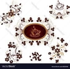 coffee ornaments royalty free vector image vectorstock