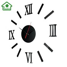 3d Home Design Kit Wall Clocks Wall Clock Decal India Oujing Diy 3d Wall Stickers