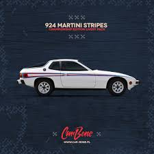 porsche martini porsche 924 m426 martini side stripes livery pack car bone pl