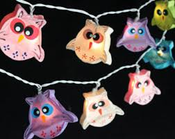 Owl Patio Lights Owl Patio Lights Etsy