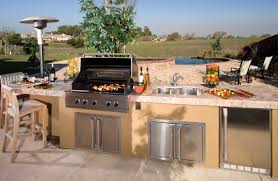 Outdoor Kitchen by Good Lowes Outdoor Kitchen With Marble Countertop Furnished By The