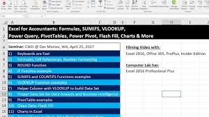 pivot tables and vlookups in excel excel for accountants pivottables power query if sumifs vlookup