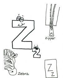 words of z zebra z alphabet coloring pages free zipper alphabet