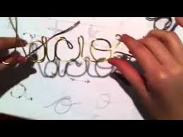 custom wire hangers difficult letters part 2 youtube