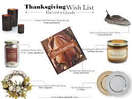 fashionably fabulous harvest goods thanksgiving wish list