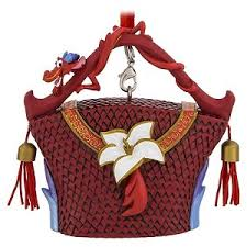 your wdw store disney purse ornament mulan mushu