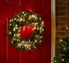 60cm outdoor battery powered green pre lit wreath with