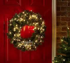 pre lit wreath luxury pre lit christmas wreath led light co uk kitchen home