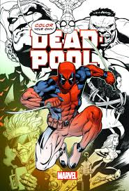 comic book color coloring books for adults color your own deadpool the nerdwork