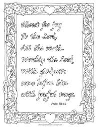 coloring pages for kids by mr adron coloring page psalm 100 1 2