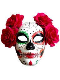halloween skeleton mask halloween day of the dead sugar skull mask