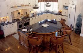 Granite Kitchen Islands Round Bar In Kitchen Kitchen With Brown Antique Granite