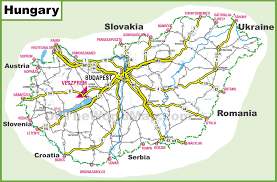 World Map Hungary by Hungary Road Map