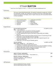 Operations Specialist Resume Sample 28 Resume Samples For Applying Professional Marketer Positions