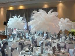 Feather And Flower Centerpieces by Flower And Event Decor Ostrich Feather Centerpieces Best Decor
