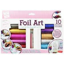 foil art kit card making supplies at the works