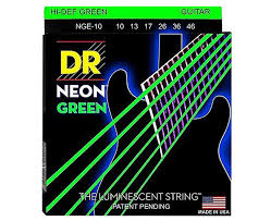 Medium Light Guitar Strings by Dr Strings Hi Def Nge 10 Neon Green Coated Electric Guitar Strings