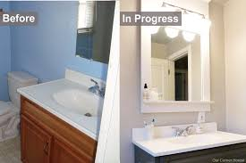 easy bathroom makeover ideas inexpensive bathroom refresh our corner house