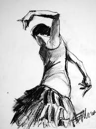 flamenco sketch 2 drawing by mona edulesco