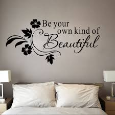 online buy wholesale black beauty quotes from china black beauty be your own kind of beautiful wall stickres quote black flowers rattans wall mural poster living