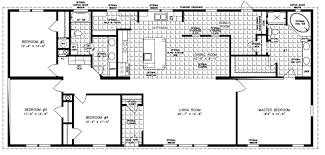 4 bedroom floor plans 2 2000 sq ft and up manufactured home floor plans