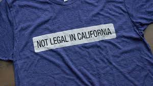 california blue not in california t shirt