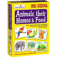 creative u0027s animals their homes u0026 foods 0621 educational flash