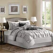 Silver Comforter Set Queen Park Cynthia 7 Piece Comforter Set By Madison Park Hayneedle