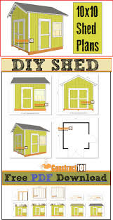 free 10x12 shed plans download get shed plans pinterest free