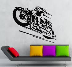 wall decals stickers home decor home furniture diy wall stickers vinyl decal motorcycle racer sports cool decor ig522