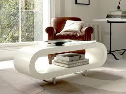 Loopy Retro Coffee Table Matt White Coffee Tables - Designer coffe tables