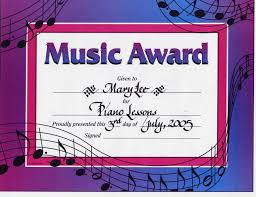 10 best images of music award certificate template music award