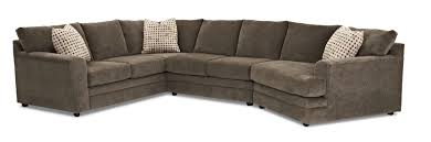 klaussner ashburn casual sectional sofa group value city