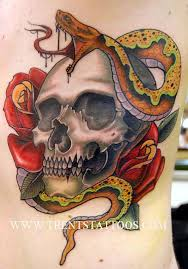 15 potent skull and snake tattoos tattoodo