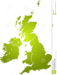 British Isles Map Uk Map Green Royalty Free Stock Photo Image 2882765