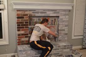 interior fireplace bricks how to whitewash stone fireplace