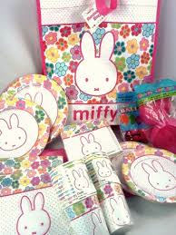 rabbit party supplies compare party supplies miffy bunny rabbit theme birthday party kit