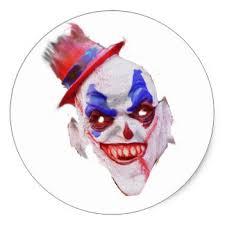 clown face stickers zazzle
