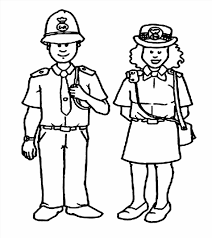 police officer coloring pages printable amp female kid pictures